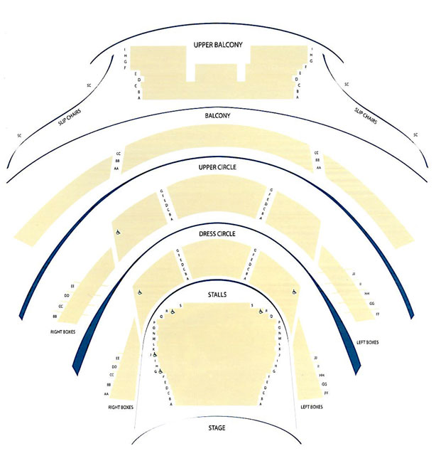 grand opera house belfast seating plan circle