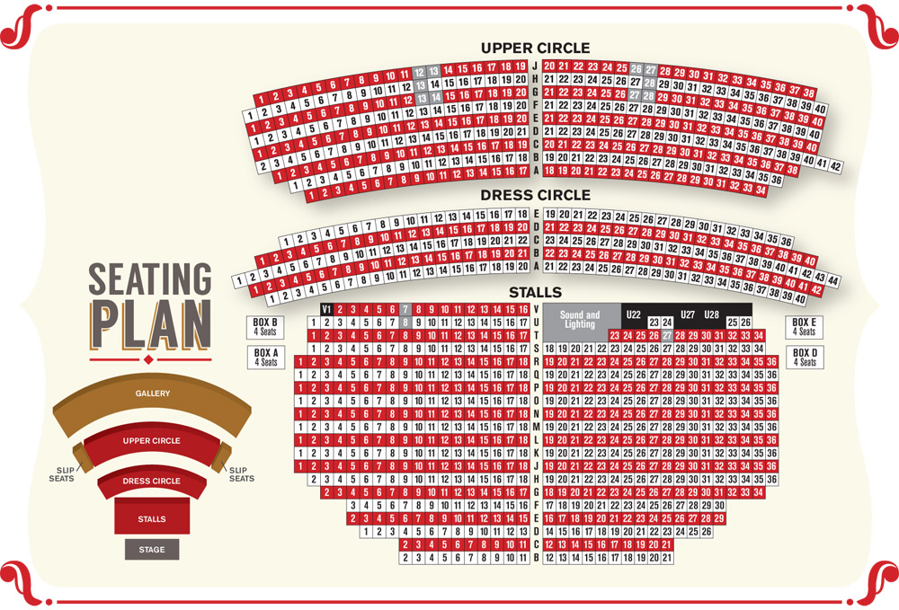 Kings Theatre Seating Plan